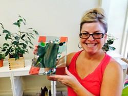 Jen is a happy glass fuser!! - Uploaded by Lisa R Falk