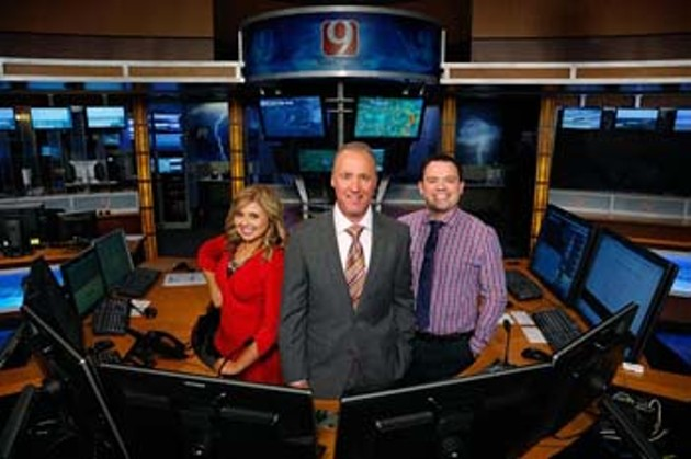 News 9 Weather Team in Oklahoma City, Wednesday, Aug. 5, 2015.  (Garett Fisbeck) - GARETT FISBECK