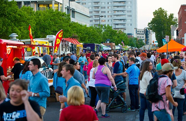People flock to the streets around H and 8th for a night of food, music and art.Photo/Shannon Cornman - SHANNON CORNMAN