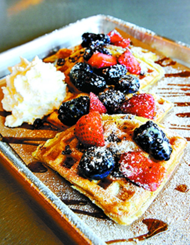 Build Your Own Waffle at Waffle Champion, Tuesday, March 3, 2015.  (Garett Fisbeck)