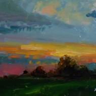 Artist Kelli Folsom painted the Oklahoma sunrise for 30 straight days