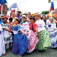 Folklorico dancers perform a traditional Mexican dance at Fiestas de las Americas.