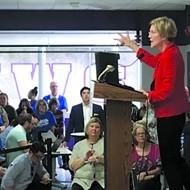 Oklahoma City-born Sen. Elizabeth Warren spoke at Northwest Classen High School Sept. 22.