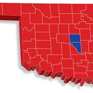 Oklahoma's election night results follow a national trend in which counties on the states' outskirts vote red and counties toward the center of the state vote blue.