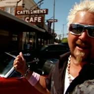 Guy Fieri outside Cattlemen's Steakhouse in 2009