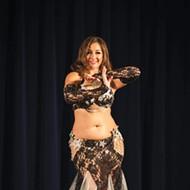 Ayperi Al Jawahir from Aalim Dance Academy in Oklahoma City belly dances in Valentine's Affair.