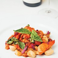 The lobster <i>pomodoro</i> at St. Mark's Chop Room served with sweet potato <i>gnocchi</i>