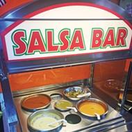 Perez Truck Restaurant's salsa bar