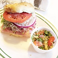 The Two-Hour Special with ham and pastrami and a side of tabbouleh at The Brown Bag Deli.