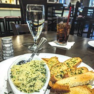 Artichoke dip appetizer at Bellini's