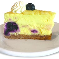 Lemon and blueberry cheesecake at The Lokal Yukon