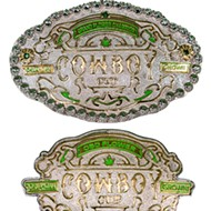 Winners at Cowboy Cup do not receive cups; they receive customized belt buckles.