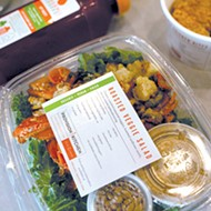The Provision Kitchen grab-and-go section in Organic Squeeze offers salads, soups and ready-to-eat entrees.