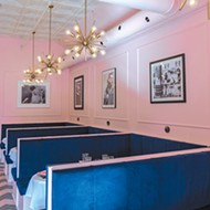 "The Eleanor owner Amanda Bratcher wanted a feminine-themed lounge centered on the phrase ""<i>la vie en rose</i>"" (life in pink)."