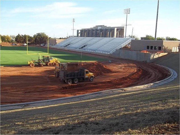 Photo from the past few months of work at Taft Stadium in northwest Oklahoma City. - CITY OF OKC