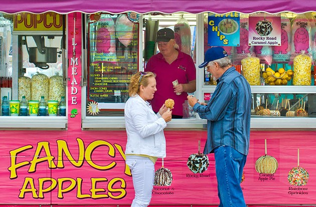 A couple celebrates its 30th year of coming to the fair together. (Shannon Cornman)