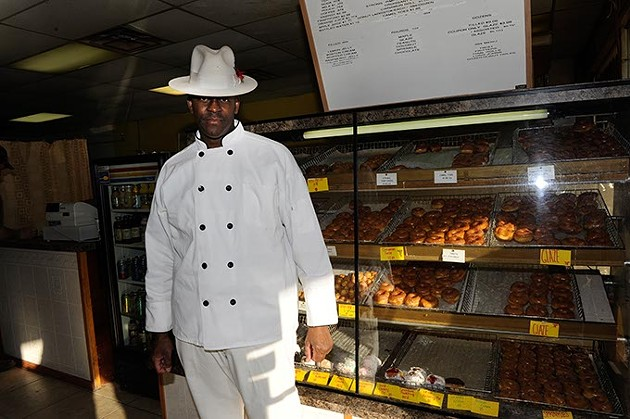 Younts Waters poses for a photo at Polar Donuts in Oklahoma City, Tuesday, Jan. 27, 2015. - GARETT FISBECK