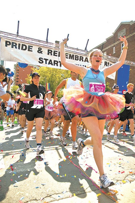 TORONTO - JUNE 27: Runners take part in the rememberance race at the Toronto Gay Pride festival  on June 27, 2009 in Toronto, Canada. - BIGSTOCK