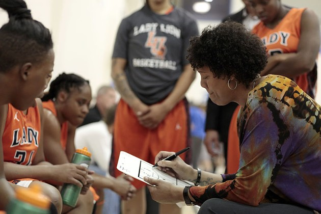Cheryl Miller, a hall of fame basketball player and coach, was hired by Langston this summer to lead its women's basketball team. - LAUREN HAMILTON