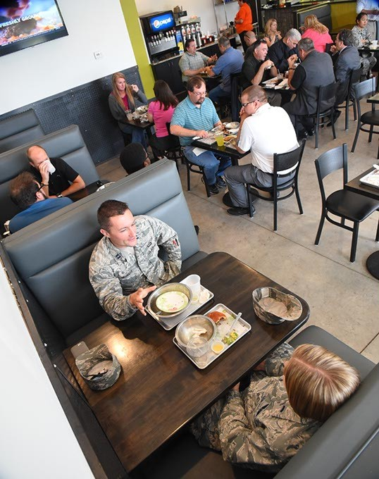 Tinker AFB personnel and others enjoy lunch at Grub in Del City, 9-23-15. - MARK HANCOCK