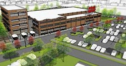 Rendering of a proposed grocery store and development at 23rd Street and Martin Luther King Ave. - PROVIDED