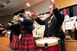 """Bagpipers traditionally play """"As the Saints go Marching In"""" before each annual Hirst Awards.Photo/Shannon Cornman - SHANNON CORNMAN"""