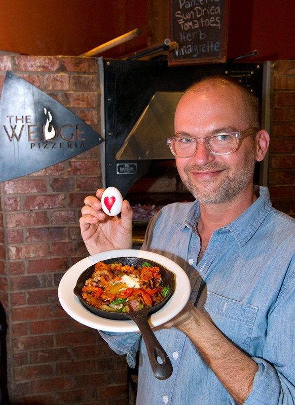 "Jeff Longstreth names The Wedge's new breakfast sensation ""Jeff's Heavy Metal Skillet"" (Shannon Cornman)"