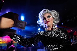 Bebe Adams performs during The Gender Bender Lipstick Revue at Phoenix Rising (Garett Fisbeck)