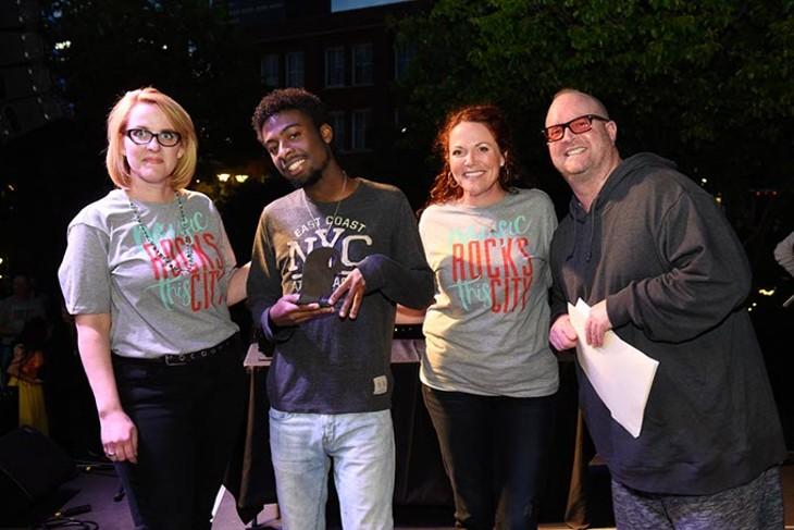 LoneMoon for Best Underage Band during the Oklahoma Gazette Music Awards at Metro Music Fest, Friday, Apri 8, 2016. - GARETT FISBECK
