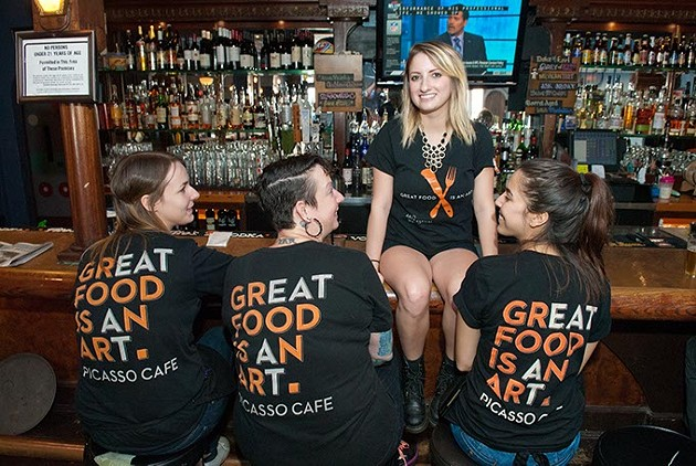 From left with team t-shirts, Sherle Marrs, Jo Ann Stanfill, Kristina Tanksley and Taylor Vance. - MARK HANCOCK