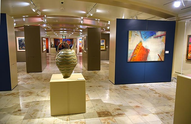 The Oklahoma State Art Collection gallery at the State Capitol, 12-7-15. - MARK HANCOCK