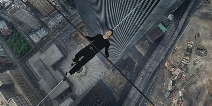 Philippe Petite (Joseph Gordon-Levitt) in TriStar Pictures' THE WALK. - COURTESY OF SONY PICTURES