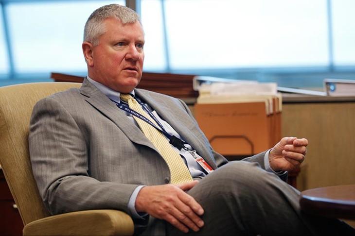 Mark Kranenburg, Airport director, at Will Rogers World Airport in Oklahoma City, Wednesday, April 15, 2015. - GARETT FISBECK