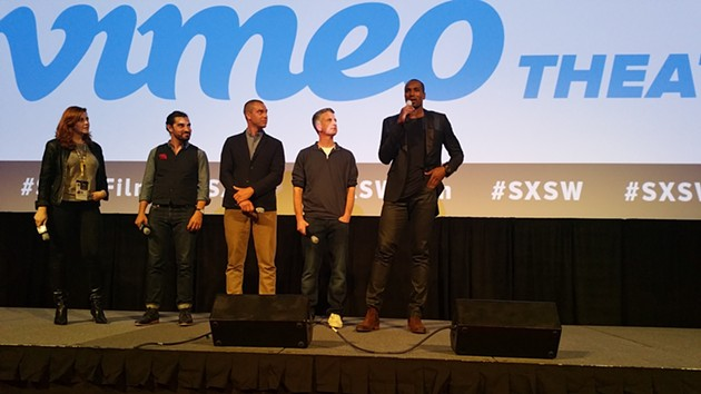"Serge Ibaka watched ""Son of the Congo"" for the first time during its premier at SXSW. - BEN FELDER"