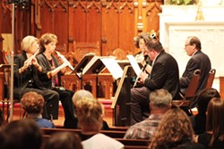 A woodwind quartet performs at a past Brightmusic Chamber Ensemble Performance. - BRIGHTMUSIC CHAMBER ENSEMBLE / PROVIDED