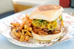 Beanie Burger at Patty Wagon in Oklahoma City, Wednesday, Dec. 2, 2015. - GARETT FISBECK
