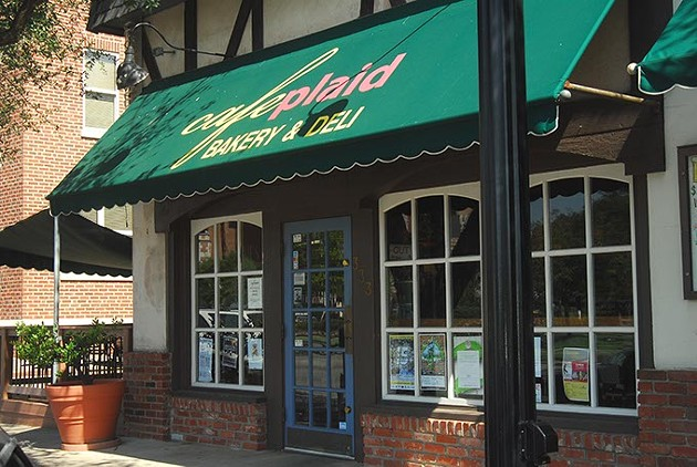 Cafe Plaid, located on Boyd Street in Norman's Campus Corner.  mh