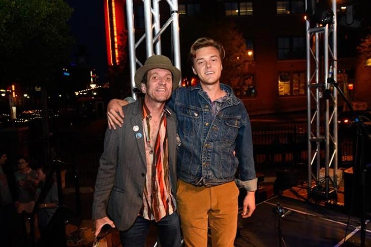 Tyson Meade and Parker Millsap during the Oklahoma Gazette Music Awards at Metro Music Fest, Friday, Apri 8, 2016. - GARETT FISBECK