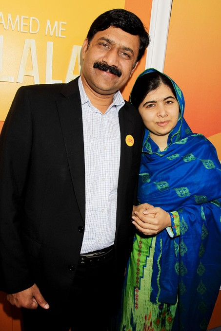 - New York,NY - 9/24/15  - Fox Searchlight Pictures Presents The New York Premiere of He Named Me Malala - -PICTURED: Ziauddin Yousafzai and  Malala Yousafzai - -PHOTO by: Dave Allocca/Starpix - -FILENAME: DA_15_458666.JPG - -Location: The Ziegfeld Theatre - Startraks Photo New York, - NY For licensing please call 212-414-9464 - or email sales@startraksphoto.com - Image may not be published in any way that is or might be deemed defamatory, libelous, pornographic, or obscene. Please consult our sales department for any clarification or question you may have. - Startraks Photo reserves the right to pursue unauthorized users of this image. If you violate our intellectual property you may be liable for actual damages, loss of income, and profits you derive from the use of this image, and where appropriate, the cost of collection and/or statutory damages. - DAVE ALLOCCA/STARPIX