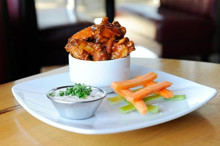 Buffalo-style wings at Upper Crust Wood Fired Pizza (Garett Fisbeck)