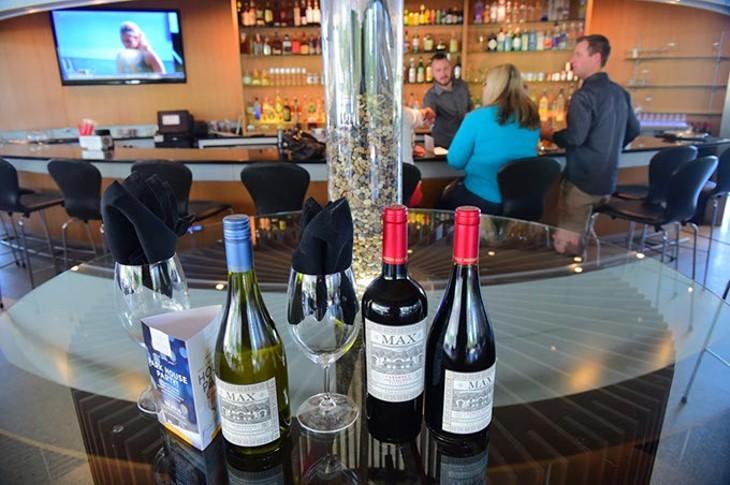 Wine selection at Park House, 125 Ron Norick Blvd, 9-2-2015. - MARK HANCOCK
