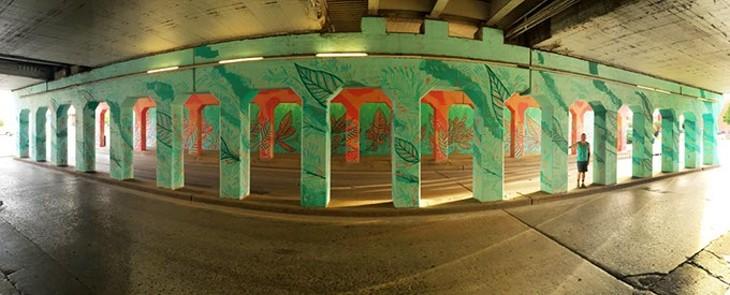 "Jason Pawley's ""Cultivation"" mural in Oklahoma City, Thursday, July 2, 2015. - GARETT FISBECK"