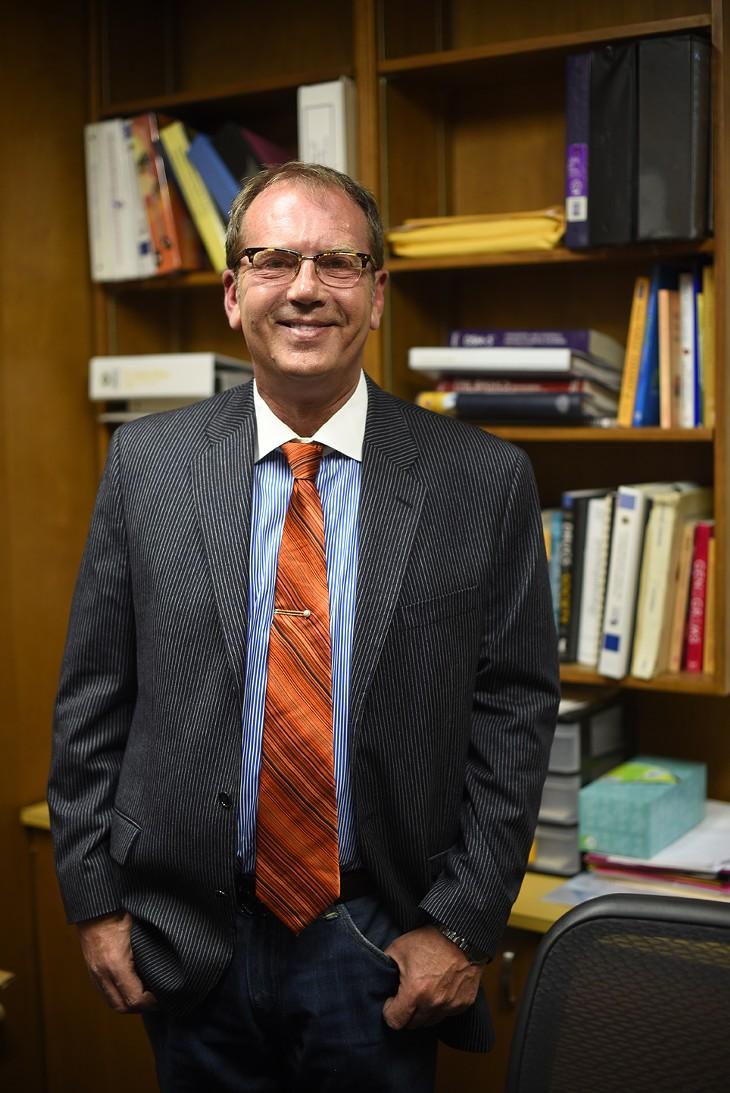 Dr. J. Keith Killian poses for a photo at his office at the University of Central Oklahoma, Friday, April 15, 2016. - GARETT FISBECK