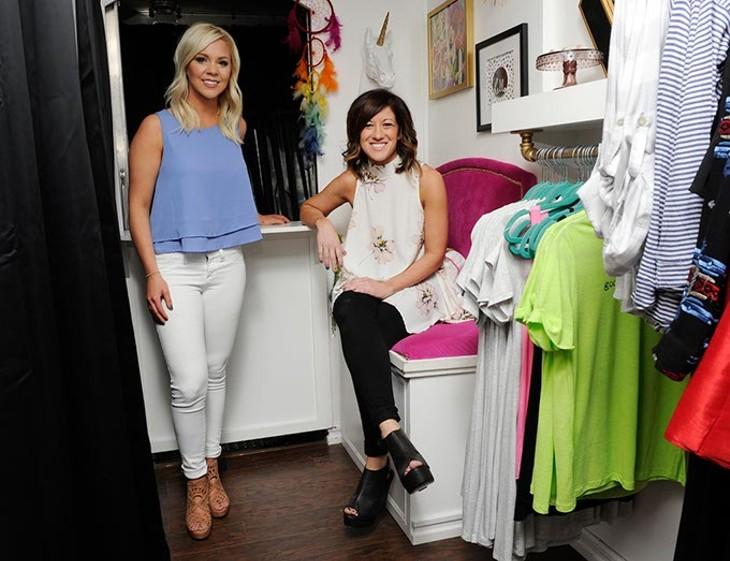 Alysia Jackson and Christin Hill in their mobile boutique Jaxx + Hill in Oklahoma City, Monday, Feb. 8, 2016. - GARETT FISBECK