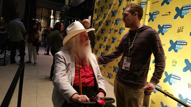 "Leon Russell following the official premier of ""A Poem is a Naked Person"" at SXSW. - BEN FELDER"