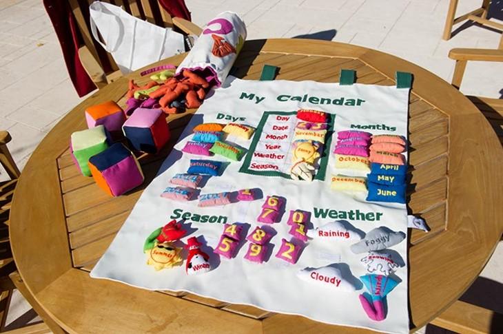 Children's handmade felt toys made for Child's Cup Full (Garett Fisbeck)