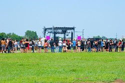 Lines form at a recent festival at Downtown Airpark (Shannon Cornman)