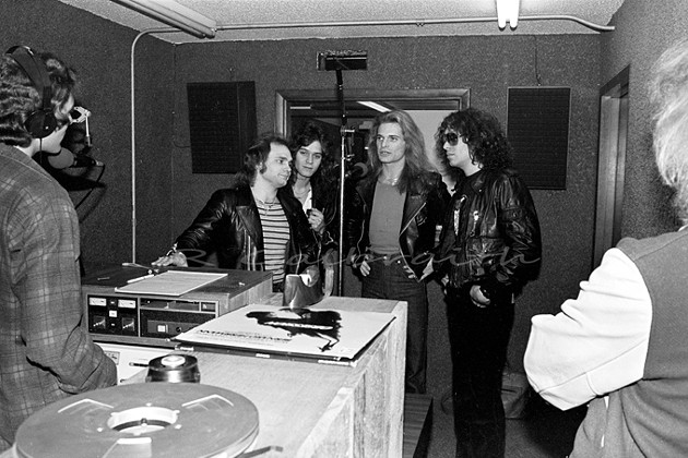 Van Halen visits the KATT-FM studio. (Rich Galbraith / Provided)
