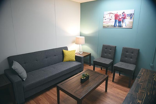 The Counseling Room at Moore's Community Renewal Center, something Chris Fox said they have never had before.  mh