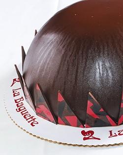 Chocolate bomb at La Baguette